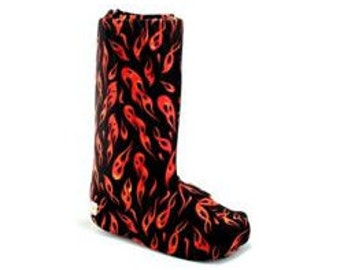 Orthopedic Walking Boot Cover in Flame, Tall Boot