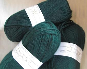 Yarn Green Plymouth Encore Knitting Worsted Weight Yarn Superwash 204 Forest Green destash