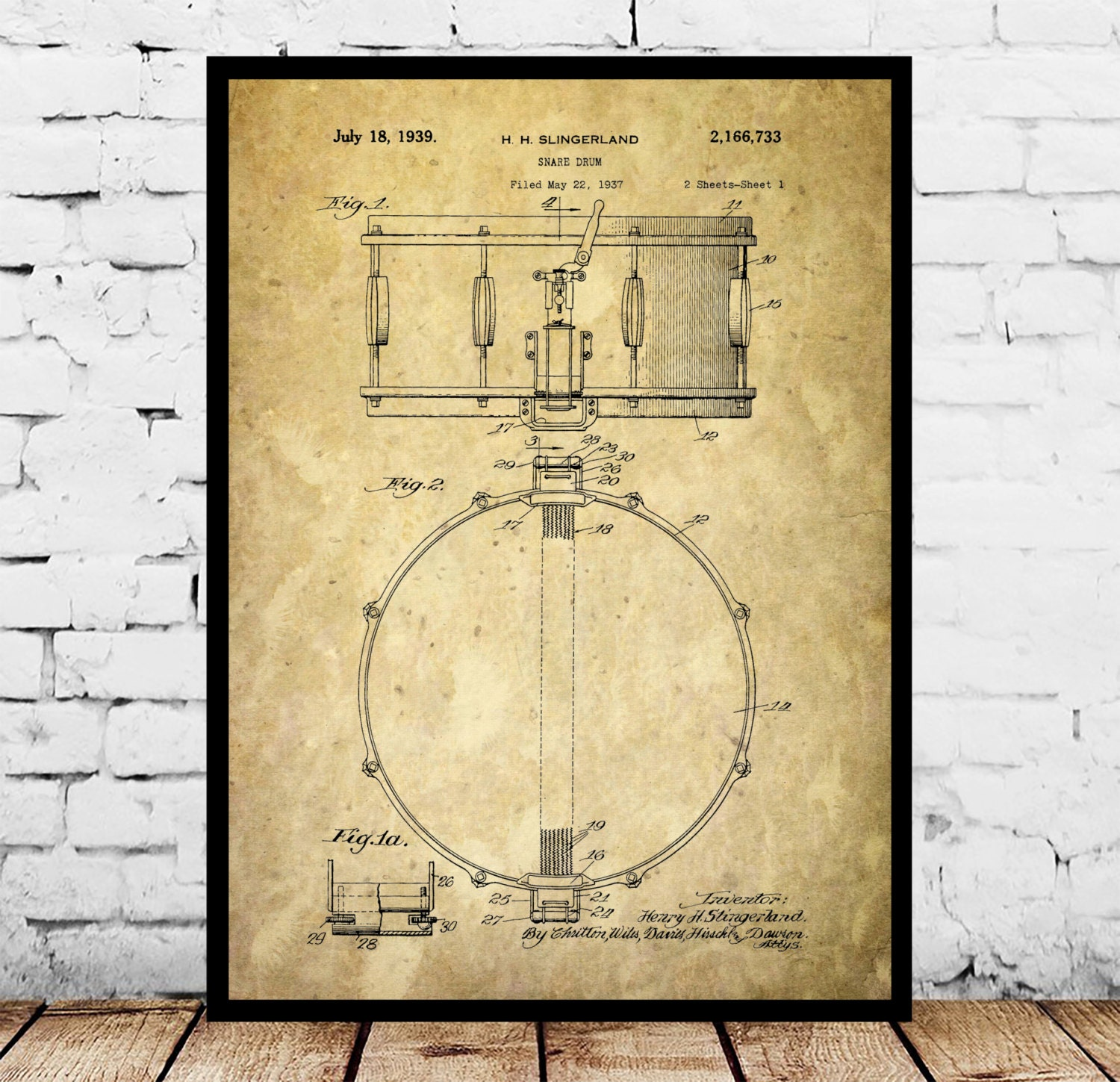 Snare Drum Print, Snare Drum Poster, Snare Drum Art, Snare Drum ...