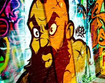 Zangief Graffiti Art - Street Fighter - Boston Art - Mancave Decor - Urban Art - Video Game Decor - Street Art - Fine Art Photography