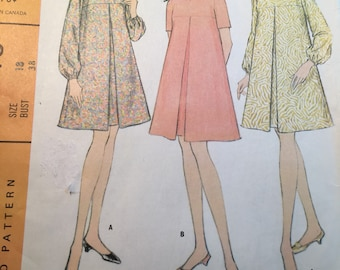 McCall's 8946 COMPLETE vintage pattern for Easy to Sew maternity dress Size 18 Copyright 1967