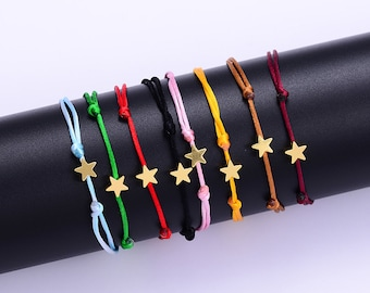 Free shipping-heart cross star Bracelet for women children red chain adjustable Bracelet is handmade DIY jewelry