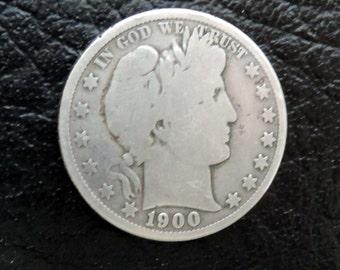 1900-P  Barber/Liberty Head Half