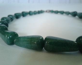 Green Emerald Quartz Beaded Necklace
