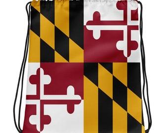 Maryland Flag Drawstring Bag | Maryland Flag Bag | Maryland Bag | Maryland Flag | Orioles Bag | Ravens Bag
