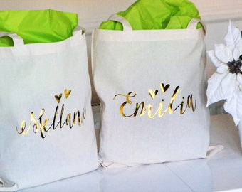 Bridesmaids gift ideas, Personalised tote bags, Hen party gift, bridesmaid gift idea, Will you be my bridesmaid, thank you gift