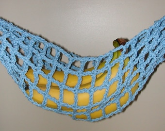 Banana Hammock, Fruit Hanger, Holder, Net, Medium Blue