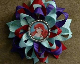 Ariel, Little Mermaid, Loopy Hair Bow
