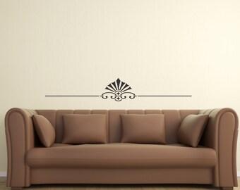 Scroll Embellishment 11 ... Vinyl Wall Decal Sharp Art Deco