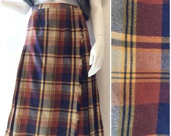Don Sophisticates Plaid Pleated Skirt