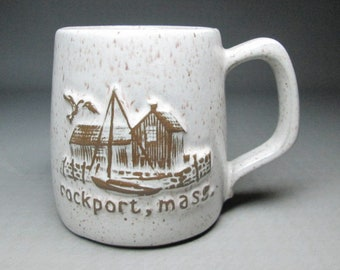 Rockport Mass ( Massachusetts ) pottery mug Onion River Pottery  ???