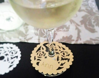 Wine glass tag - set of 10