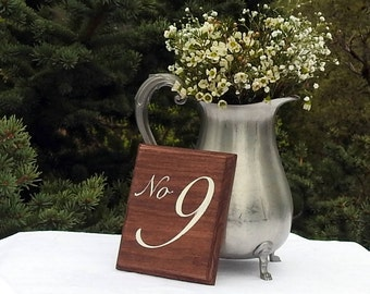 Wood Wedding Table Numbers - Wooden - Rustic Wedding - Table Decoration