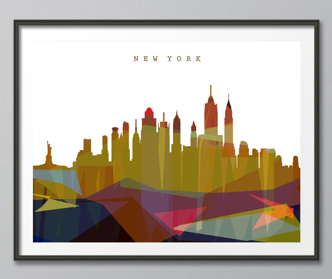 Skyline New York Skyline Geometric Skyline Print Geometric