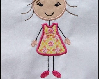 INSTANT DOWNLOAD Stick figures Big Sister Mommy's girl Daddy's girl applique designs