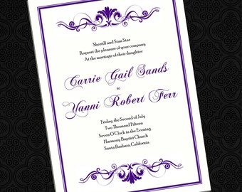 Stately Scrolls - Wedding Invitations