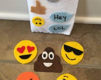 Finger Puppet   Felt   s Emojis Inspired   Felt Story   Pretend Play