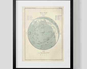 March Star Chart Constellations Popular Guide to the Heavens Plate 41 Art Print