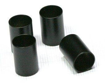 Black painted tube 8 pcs  brass 10 x 15 mm (hole 9 mm) industrial brass charms,pendant,findings spacer bead