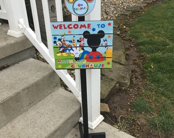 New Mickey Clubhouse Yard Sign