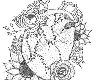 El Corazon - An Art Print