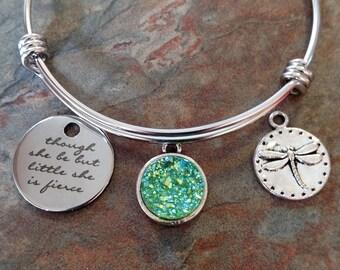 Though She May Be little, she is fierce bracelet