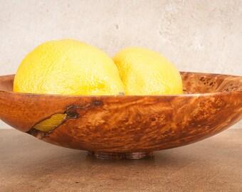 Fruit bowl, home decor, kitchen decor, bowl, living room decor, wood bowl, wood bowls, maple burl bowl, hand made, decorative bowl