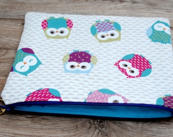 Owl - Handmade Laptop Case - All Sizes, Padded
