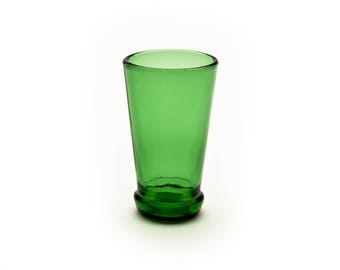 Bottle Top Shot Glass Green Made from Recycled Glass Bottle by Battat Glass