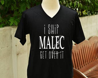 i ship Malec get over it t-shirt short sleeve