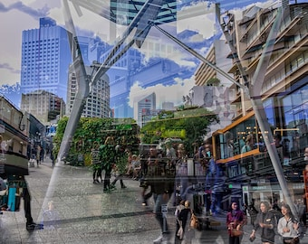 Multiple Exposure of Brisbane Print