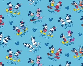 Disney Fabric Mickey and Minnie Vintage Toss Fabric From Springs Creative