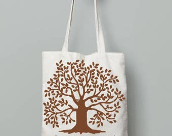 Tree with bible verse tote bag | canvas bag | reusable grocery bag | fabric book bag | everyday tote | cloth canvas