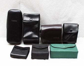 Lot of 7 Original Minolta Konica Voigtlander Rainbow Photography Accessory Case Pouch / Cases Pouches