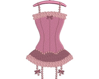 Instant download Lingerie corset embroidery design download