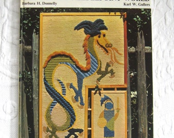 the crewel needlepoint world . Barbara Donnelly . 1973 . embroidery book . crewel embroidery book