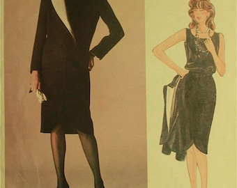 """Jacket, Skirt & Top by Valentino -1980's - Vogue Pattern 1233  Uncut  Size 10  Bust 32.5"""""""
