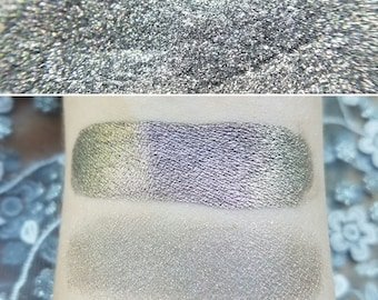 Spellfire - Color Shifting Pink & Gold with a Grey-Black Base, Mineral Eyeshadow, Mineral Makeup, Vegan