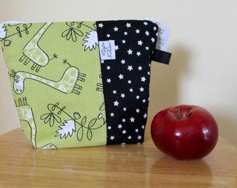 Reusable snack bag, snack, zero waste, snack bag reusable, bobo, sandwich, creating Maridam bag clutch