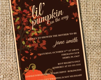 lil' pumpkin on the way - PRINTABLE