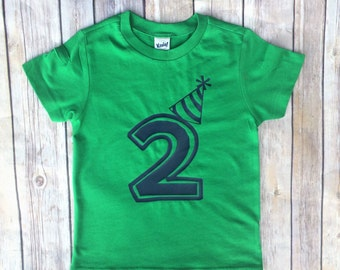 Boys Birthday, birthday shirt, tshirt, 2nd birthday, 1st birthday, 3rd birthday, green and navy, birthday hat, lettering birthday shirt,