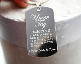 Keychain ~ anniversary ~ with desired engraving
