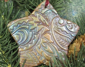Textured Star Christmas Ornament ORN0011-15