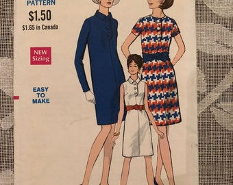 1960s Vintage Vogue Dress Pattern #7363