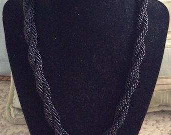 Black Double Twist Necklace