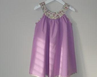 Kern Round Yoke Girls' Dress PDF Sewing Pattern in age 2-3, 4-5 and 6-7