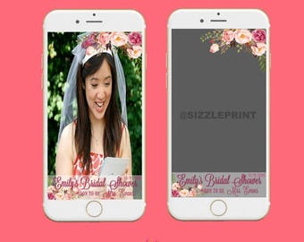 SNAPCHAT BRIDAL SHOWER Geofilter Plus Family & Friends Message   Personalized Snapchat Geofilter   Wedding Shower   Bachelorette Party