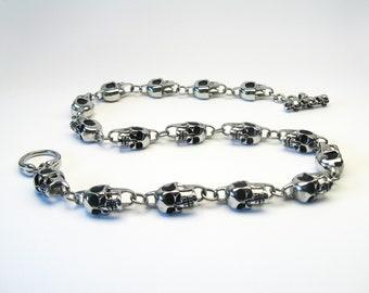 Skulls Skull Necklace stainless steel bike skull chain