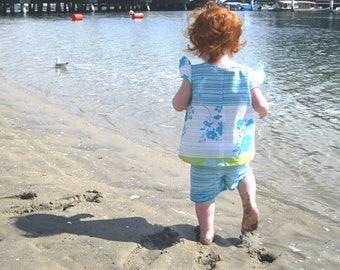 Girls shorts set tropical print | Toddler girls short set Hawaiian | Bobbin and Bloom