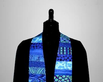 """Clergy Stole, Joyful Blue #270, Pastor Stole, Minister Stole, 54"""" Length, Pastor Gift, Vestments, Church"""